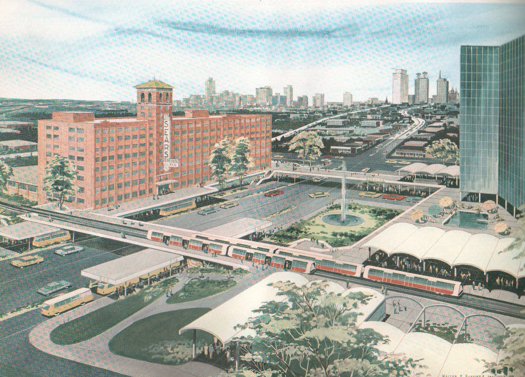 Concept drawing of rapid Transit for Sears and Ponce area