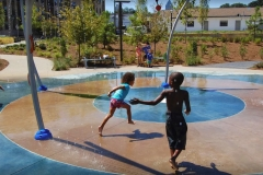 Children Enjoying the splashpad