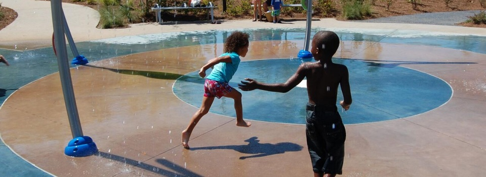 Our Splashpad and Playground are a BIG hit with kids and parents too!